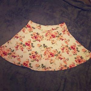 F21 floral circle skirt